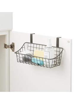 Small Grey Over The Cabinet Grid Basket by Container Store