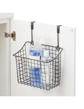 Large Grey Over The Cabinet Grid Basket by Container Store
