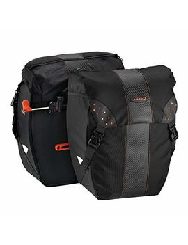 Ibera Bicycle Bag Pak Rak Clip On Quick Release All Weather Bike Panniers (Pair), Includes Rain Cover by Ibera