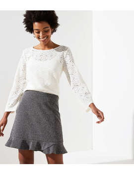Petite Tweed Flippy Skirt by Loft
