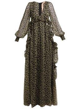 Star Print Silk Georgette Dress by No. 21
