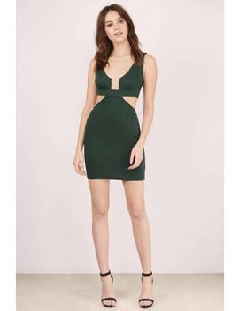 Gigi Green Bodycon Dress by Tobi