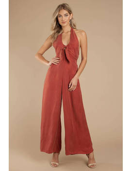 Somedays Lovin Downtown Rust Jumpsuit by Tobi