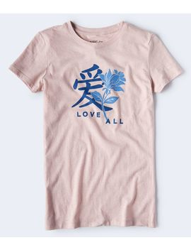Love All Kanji Graphic Tee by Aeropostale