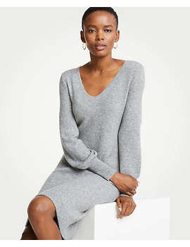 Petite Blouson Sleeve Sweater Dress by Ann Taylor