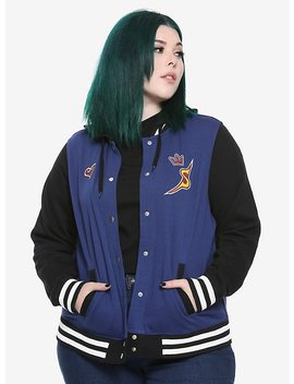 Disney Kingdom Hearts Girls Varsity Jacket Plus Size by Hot Topic