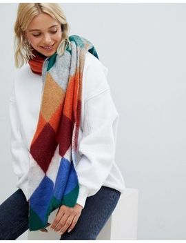 Bershka Soft Scarf In Stripe by Bershka
