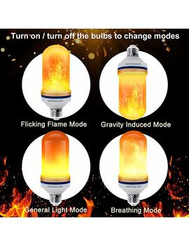 Cppslee   Led Flame Effect Light Bulb   4 Modes With Upside Down Effect   4 Pack E26 Base Led Bulb   Flame Bulb For Christmas Home/Hotel/Bar Party Decoration by Cppslee