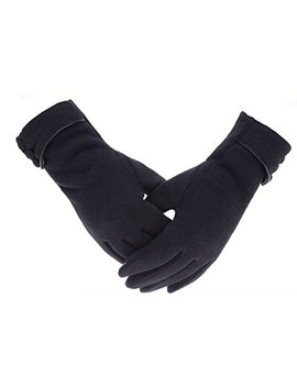 Tomily Womens Touch Screen Phone Fleece Windproof Gloves Winter Warm Wear by Tomily