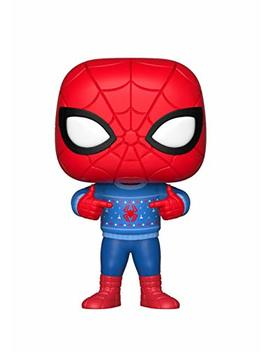 Funko Pop Marvel: Holiday   Spider Man With Ugly Sweater Collectible Figure, Multicolor by Fun Ko