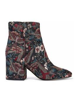 Taye Metallic Jacquard Ankle Boots by Sam Edelman