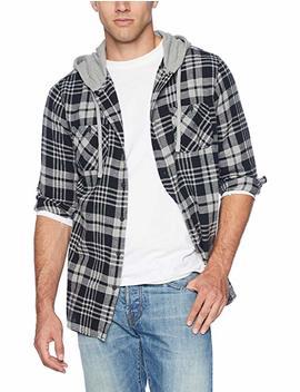 Unionbay Men's Classic Flannel Hoodie by Unionbay