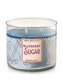 Bath And Body Works White Barn Blueberry Sugar Scented 3 Wick Candle For 2017 14.5 Ounce by Bath & Body Works