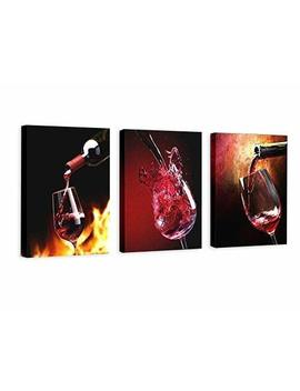 Nuolanart  Canvas Wall Art 3 Panels Framed Wine Canvas Prints For Home Decoration  P3 S4060x3 1 by Nuolan Art