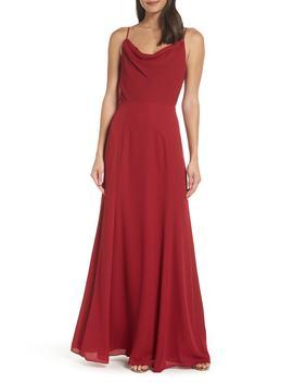 Shona Joy The Melanie Cowl Neck Gown by Wayf