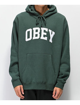 Obey Collegiate Alpine Green Hoodie by Obey