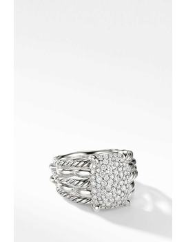Tides Statement Ring With Pavé Plate by David Yurman