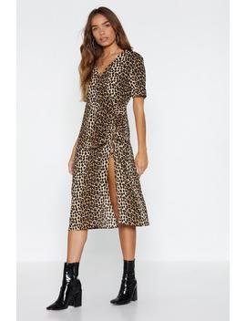 Going On A Fierce Date Leopard Dress by Nasty Gal