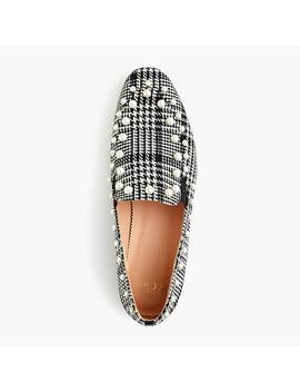 Pearl Studded Loafers In Glen Plaid by J.Crew