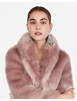 Petite Long Faux Fur Coat by Express