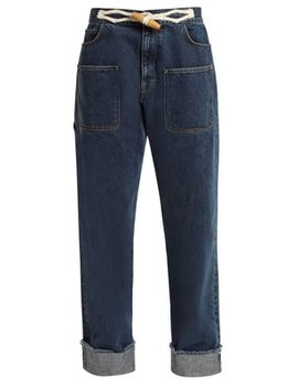 Toggle Detail Straight Leg Jeans by Jw Anderson