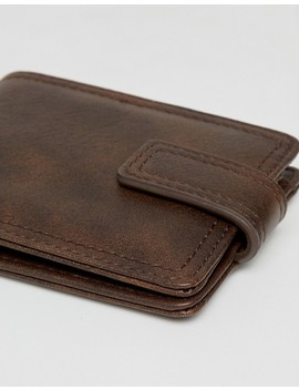 New Look Faux Leather Wallet In Brown by New Look