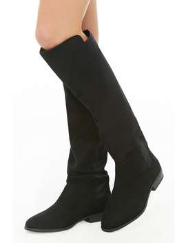 Knee High Combo Boots by Forever 21