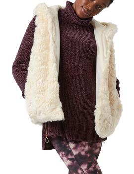 Faux Fur Hooded Vest by Sweaty Betty