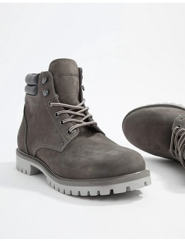 Jack & Jones Lace Up Nubuck Boots by Jack & Jones