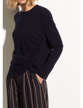 Side Cinch Cashmere Crew by Vince