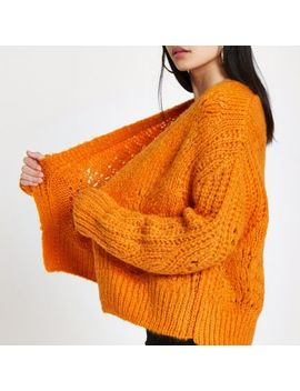 Orange Knitted Cardigan by River Island