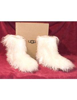 $350 Ugg Fluff Momma Mongolian Sheepskin White Boots Women 8 1019138 New W/ Box by Ebay Seller