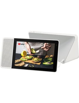 """8"""" Smart Display With Google Assistant   White Front/Gray Back by Lenovo"""