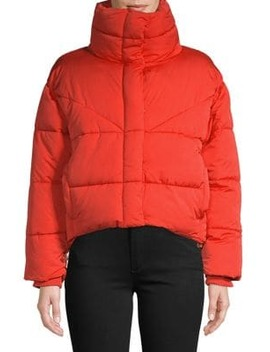 Wrap Puffer Jacket by Topshop