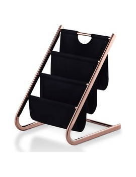 Joslin Contemporary Magazine Rack Rose Gold   Homes: Inside + Out by Homes: Inside + Out