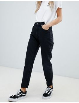 Pull&Bear Classic Mom Jean In Black by Pull&Bear
