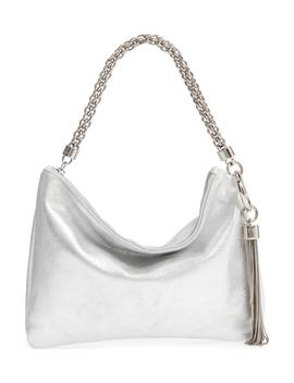 Callie Evening Metallic Leather Clutch by Jimmy Choo