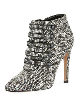Morris High Heel Tweed Booties by Neiman Marcus