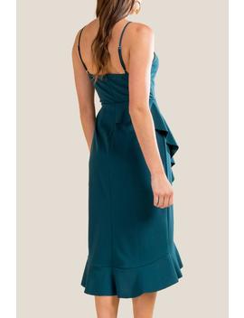 Emmalynn Ruffle Bottom Midi Dress by Francesca's