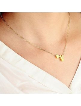 26 Letters Women Tiny Love Heart Collier Choker Necklace Pendant Lovers Gifts by Unbranded