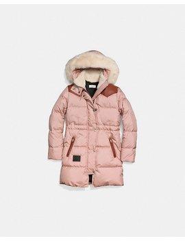 Shearling Puffer Coat by Coach