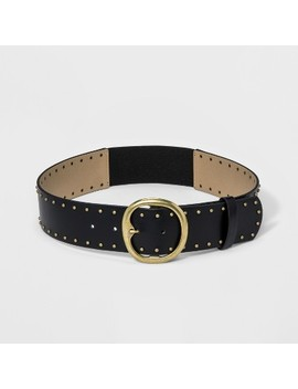 Women's Casual Stud Stretch Belt   Universal Thread™ Black by Universal Thread