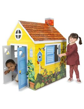 Melissa & Doug Country Cottage Indoor Corrugate Playhouse (Over 4 Feet Tall) by Outdoor Games