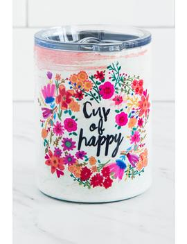 Cup Of Happy Lowball Tumbler by Francesca's