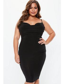 Plus Size Black Slinky Midi Dress by Missguided
