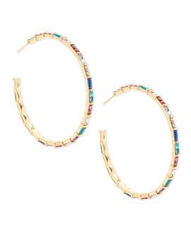 Thora Gold Hoop Earrings In Jewel Tone Mix by Kendra Scott