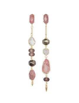 Cosette Gold Statement Earrings In Pink Mix by Kendra Scott
