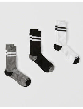 3 Pack Athletic Socks by Abercrombie & Fitch