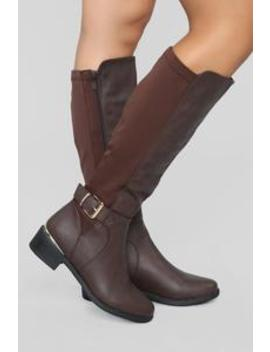 Nothing Is The Same Flat Boot   Brown by Fashion Nova