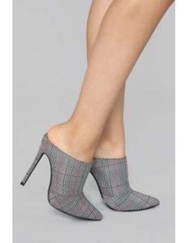 Give Me The Sass Mule Pump   Plaid by Fashion Nova